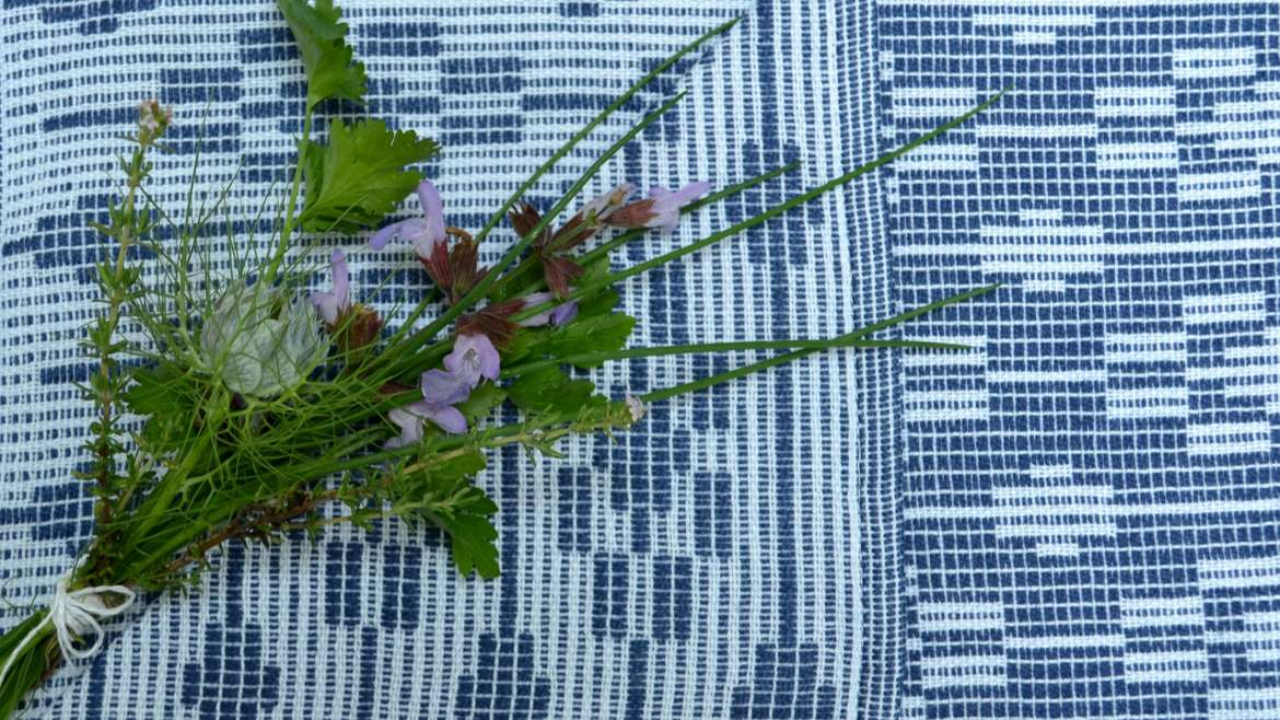 The original dukagang tea towel - woven in dukagang weave structure in cotton and linen