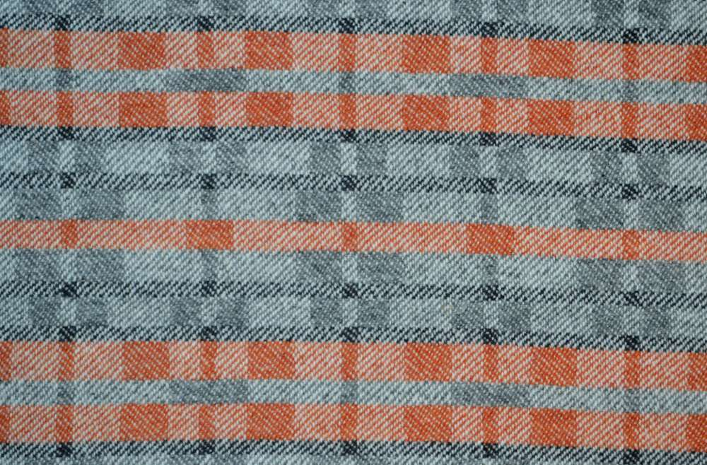 'Dukagang stripe' lambswool throw - showing soft colour side