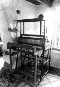 my very first loom in Cornwall