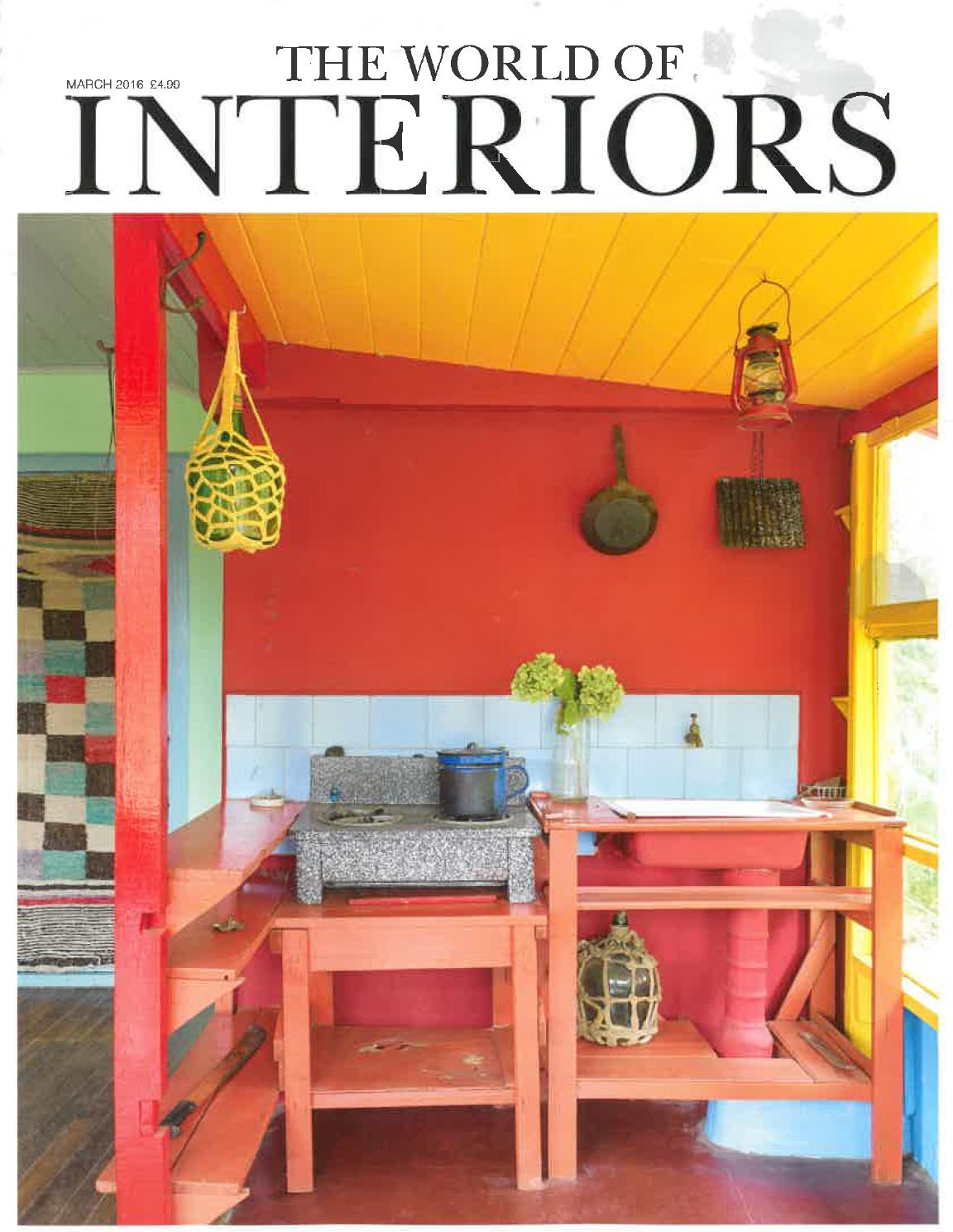 World of Interiors features my 'Moroccan Tiles' throws