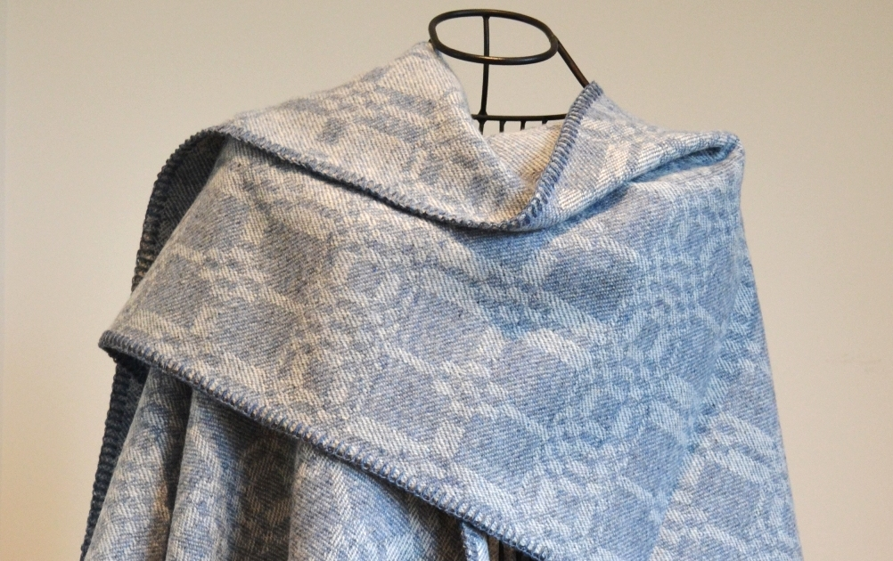 Custom woven lambswool ruanas – just choose your design, colour and length