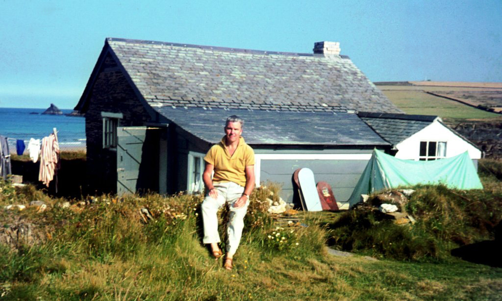 My father outside Parsons Hut, 1960's (c) Madeleine Jude Ltd 2017