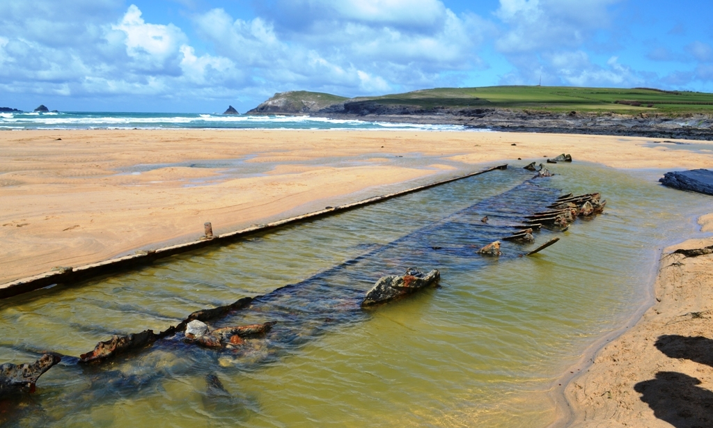 A rare glimpse of German sailing ship SV Carl, wrecked on Boobey's Bay in 1917 (c) Madeleine Jude Ltd 2017