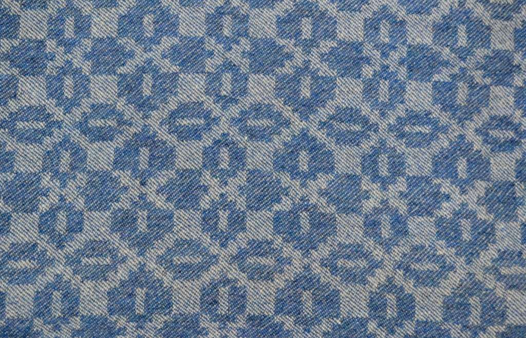 'Moroccan Tiles' design in sapphire blue