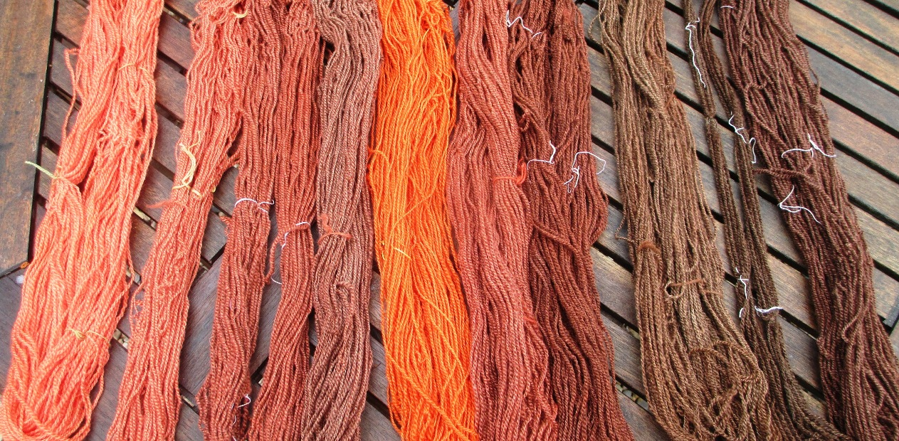 Handspun and naturally dyed – madder reds