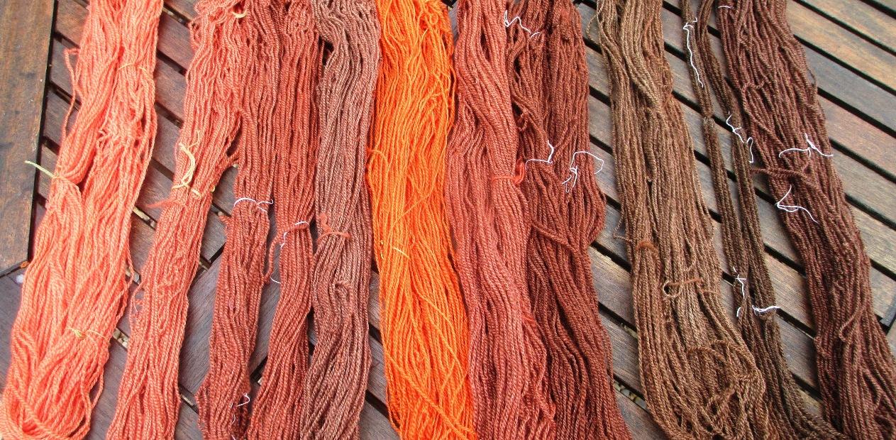 Handspun and naturally dyed – madder reds