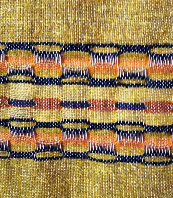 Close up detail of wallhanging 2