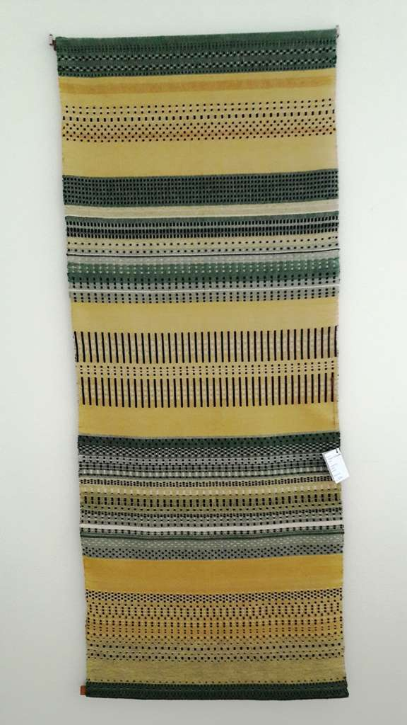 Wallhanging 1 - in shades of lemons, olives, and burnt earth