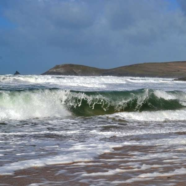 Rolling surf on Boobey's Bay looking out to Trevose Head (c) Madeleine Jude Ltd