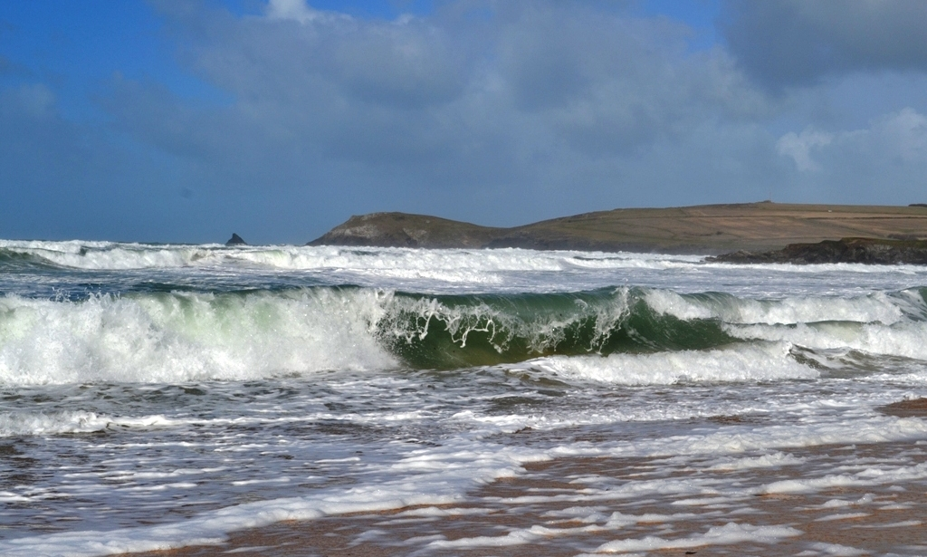 Across the surf to Trevose Head (c) Madeleine Jude Ltd 2017