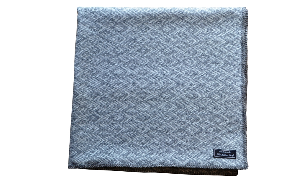 Closeup of Keynvar Throw - Trevose Head Collection