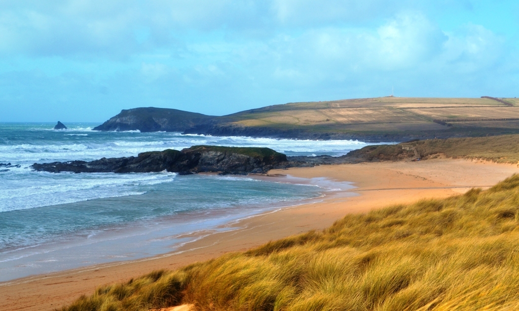 Constantine Bay, Constantine Island and Trevose Head