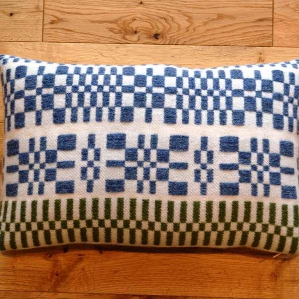 Small rectangular handwoven monksbelt cushion (30cm x 50cm)
