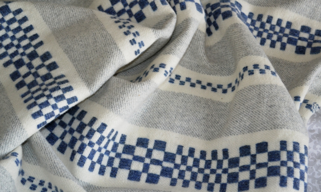 Close up detail of the Monksbelt throw